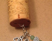 Wine Cork Keychain - Celtic