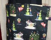 Teacup and Heart Tote Bag - Sale