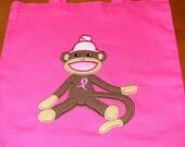 Breast Cancer Awarness Sock Monkey