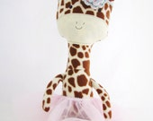 Reserved for Kaitsimon.  Plush fleece giraffe