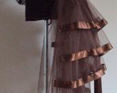 Brown Burlesque Steampunk Bustle Belt size US 2 4 6 8  10 UK 6 8 10 12 14