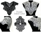 SALE Day Double Venice Lace Crochet Yoke Necklace Collar Applique Sewing Supplies