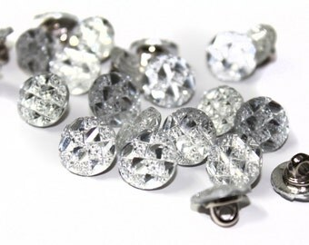 Alloy Rhinestones Sewing Shank Buttons ,Jewelry Garment Accessories 20 PCS
