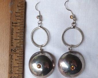 Long Silver Earrings