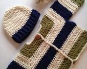 Crochet baby sweater striped infant sweater