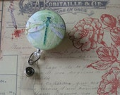 Retractable Badge Holder, Dragonfly ID Holder; Dragonfly Badge Reel, Button, ID Clip, Badge Holder