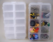 Set of 2 Sewing Notion 20 Compartment Boxes