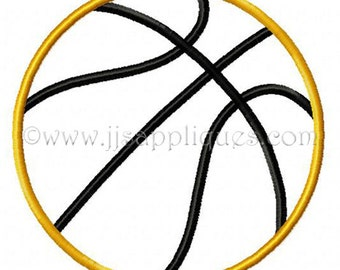 Sports Designs Basketball Embroidery Applique Design  - Basketball 4x4, 5x7, 6x10 hoops - Instant Download