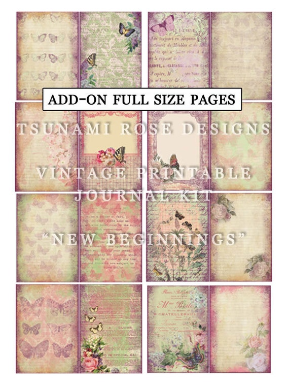 Add On New Beginnigs Full Size Pages- INSTANT DOWNLOAD