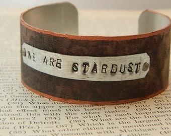 Inspirational bracelet We Are Stardust Inspirational jewelry quote jewelry