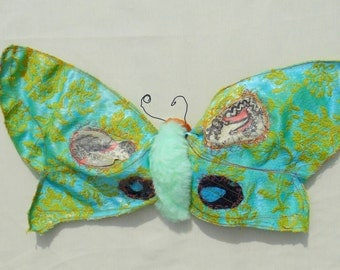 Giant Textile Moth- Soft Sculpture- Fiber Art
