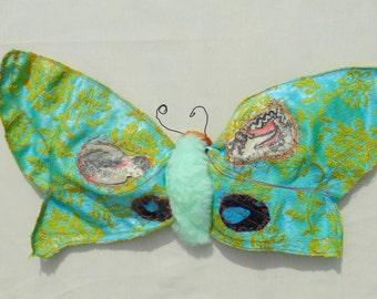 Giant Textile Moth- Soft Sculpture- Fiber Art