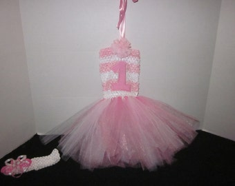 Baby Girls 1st Birthday Tutu And Hairbow By Sweetpeas Bows & More
