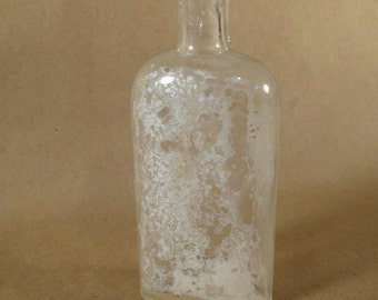Vintage Clear Glass Bottle Collectible