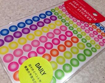 tiny sticker for Filofax,planner, Midori,Filofax, diary birthday sticker candle sticker 24