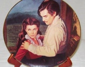 """Gone with the Wind The Passions of Scarlett O'Hara """"Dangerous Attractions"""" Commemorative Plate"""
