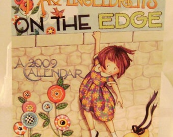 "Mary Engelbreit 2009 Wall Calendar ""On the Edge"""