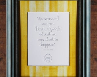 Winnie the Pooh Letterpress Quote - UNFRAMED