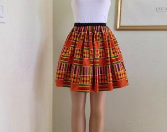 Ankara Kente  Skirt for Women