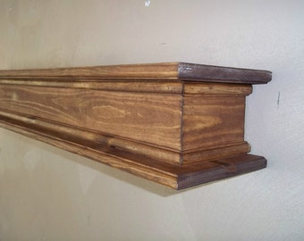Rustic Fireplace Mantel Shelf ,  Wall Shelf , Wood Wall Shelf,  Floating Wood Shelf , Wood Shelf