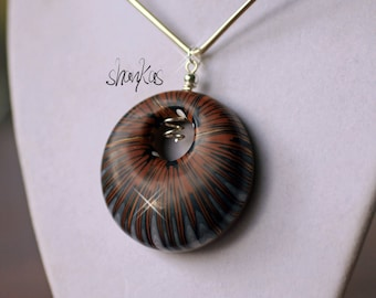 BOLD Polymer Clay Pendant - WEARABLE ART!!!