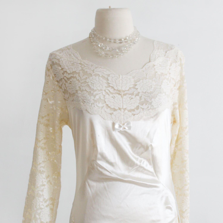 White Satin Lace Blouse 16