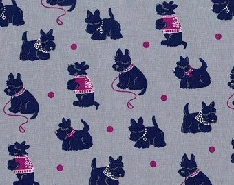 Bespoke Scotties in Passion - Houndstooth & Friends - Michael Miller Fabrics - 1 Yard