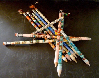 Large pencils .11 huge pencils .French Souvenirs .Instant collection .