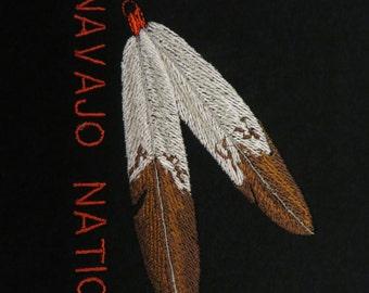 Embroidered T shirt Navajo Nation