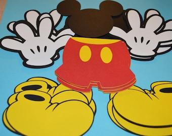 "Mickey Mouse Die Cut Set (60) 4"""