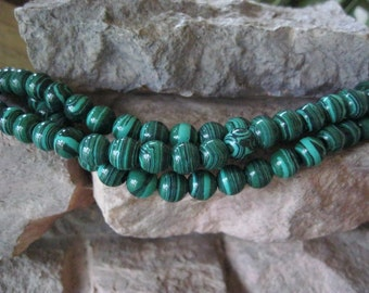 Tribal Big Hole Bead 8MM Round Green Black 2.5mm hole approx 25- 26 Beads