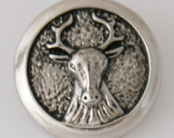 1 PC 18MM Deer Animal Silver Snap Candy Charm kb5425 CC0003