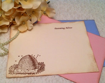 Mommy to Bee Parenting Advice Cards-Mom to be Baby Shower-Set of 12