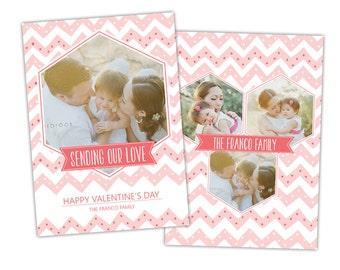 INSTANT DOWNLOAD -  Valentine Photoshop Template - E983