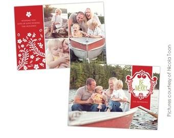 Christmas Card Template - Photoshop template - E501