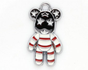 3 Bear Charms Enamel Pendants 29 x 16 mm - ts375