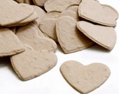 Coffee Latte Brown Heart Shaped Seed Confetti - 350 Pieces - Plantable Paper