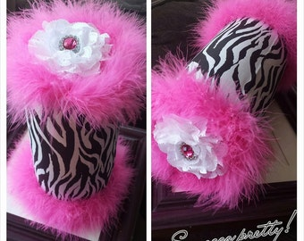 Zebra headband holder