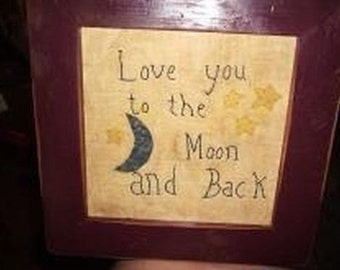 Primitive Sampler Love you to the Moon and Back