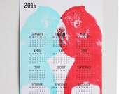2014 Bear Calendar - WishboneLetterpress