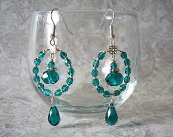 Olivia Crystal Dangle Earrings
