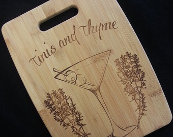 Tinis and Thyme Cutting Board