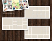INSTANT Download Babies 1st Year Storyboard / Collage Collection - 4 layouts sized 900x450 pixels, 5x10 & 10x20 in (12 files) - C19