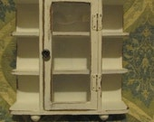 Shabby Chic Cabinet-Display Case Antique White Curio Cabnet