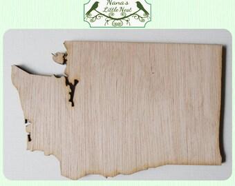 Washington State ( Medium)  Wood Cut Out - Laser Cut