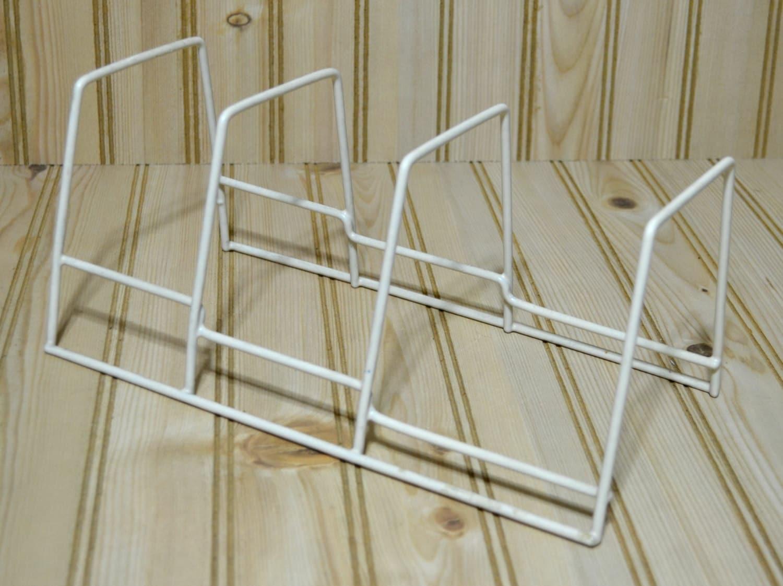 vintage pan pot dish cover drying holder rack stand rubber. Black Bedroom Furniture Sets. Home Design Ideas