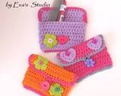 Girls Purse/ Wallet  with Flower and Heart, Crochet Pattern PDF,Easy, Great for Beginners,  Pattern No. 11