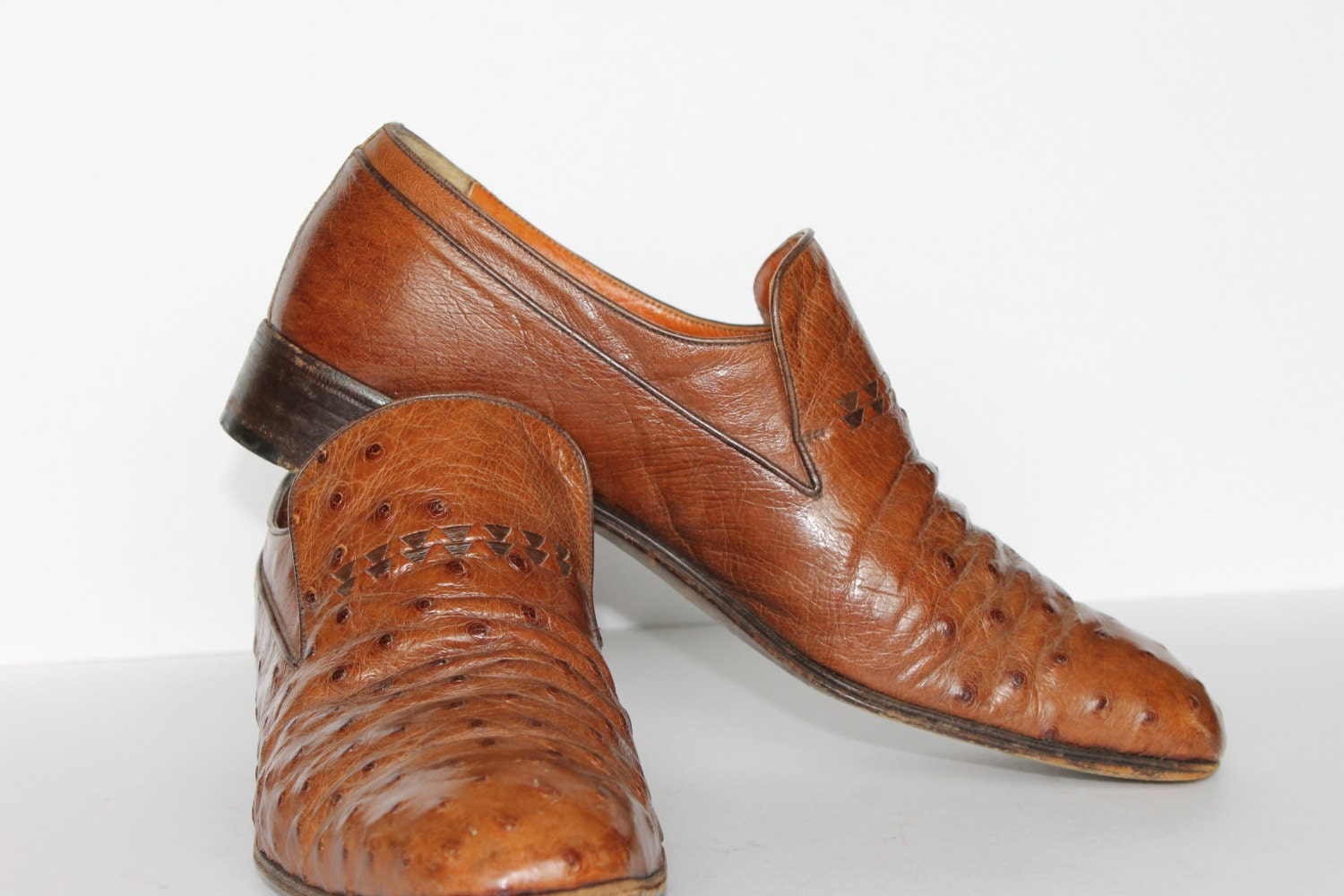 vintage ostrich leather shoes ostrich shoes by