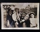 Original Antique Photograph Goofing Around