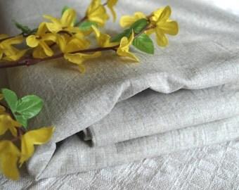 """SALE Linen Tablecloth 54""""x97"""" Natural Light Grey Prewashed Wrinkled"""